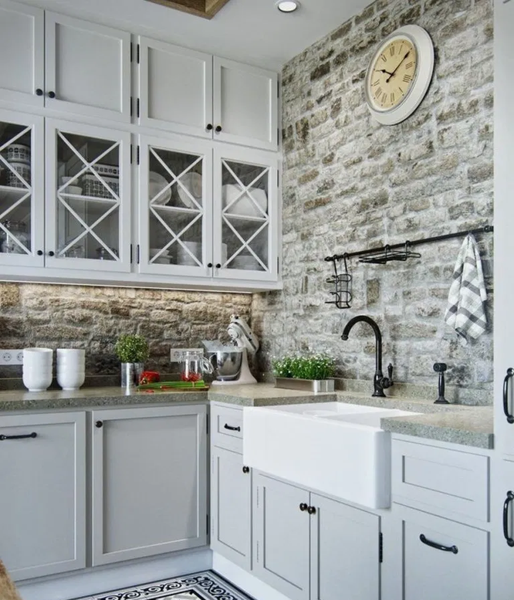 89 DIY Farmhouse Kitchen Cabinets Makeover Ideas - Decortutor.com