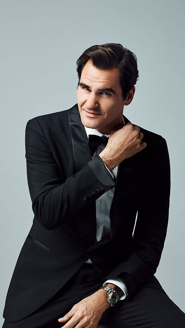 Tennis Legend Roger Federer Exudes Grace And Class While Wearing A