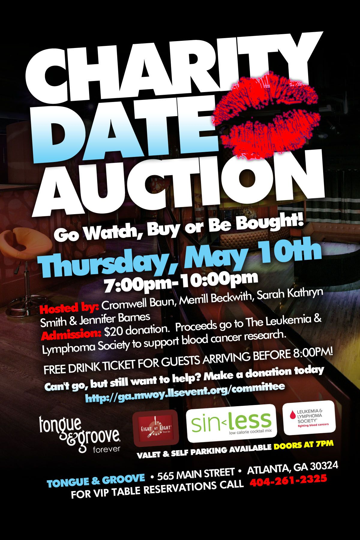 dating auction fundraiser flyer