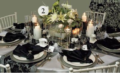 Elegant Black And White Table Settings 58 Elegant Black And White ...