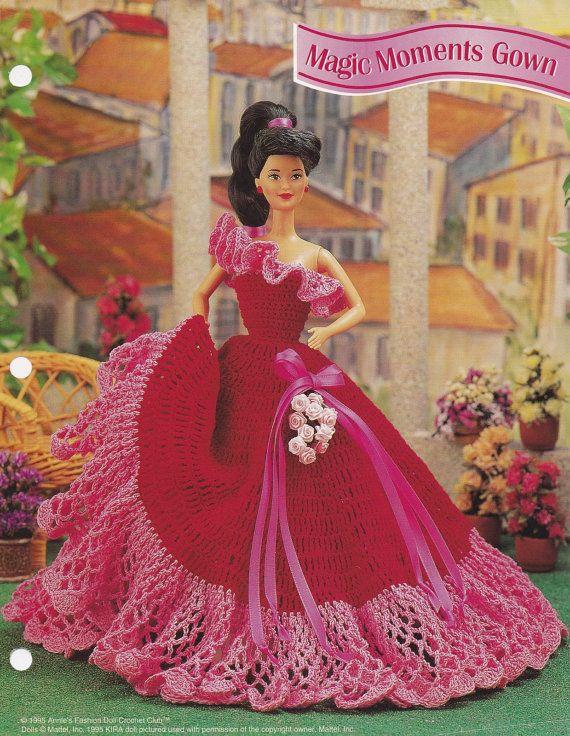 Magic Moments Gown, Annie\'s Fashion Doll Crochet Pattern Club ...