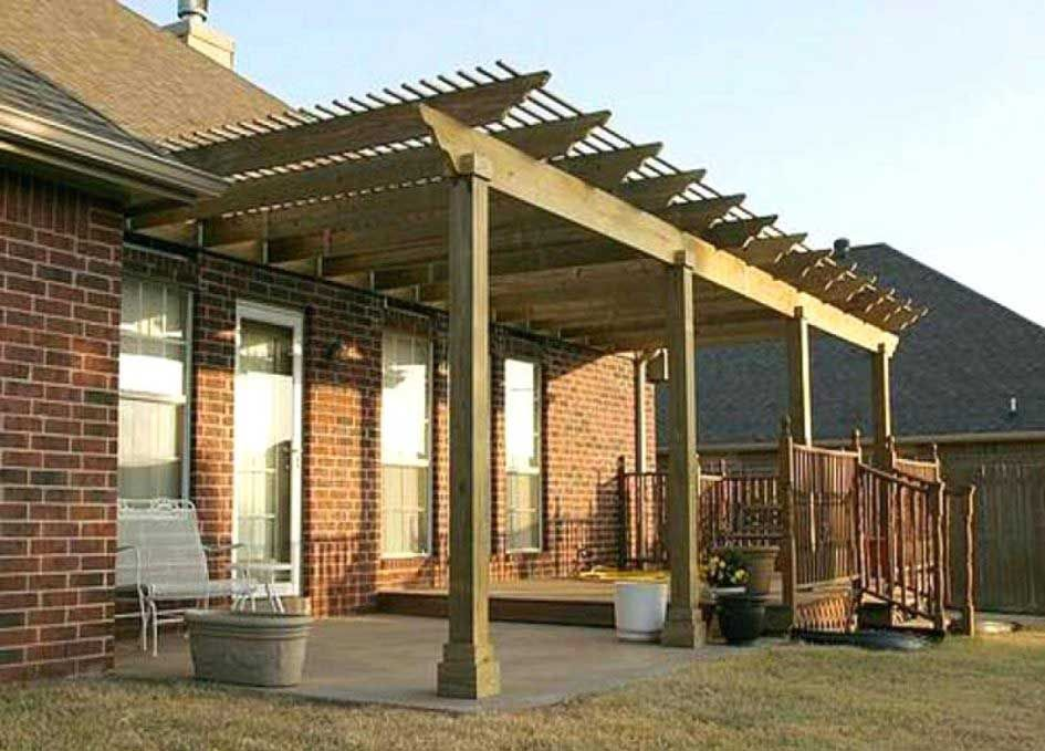 How to attach a patio roof to an existing house and 10