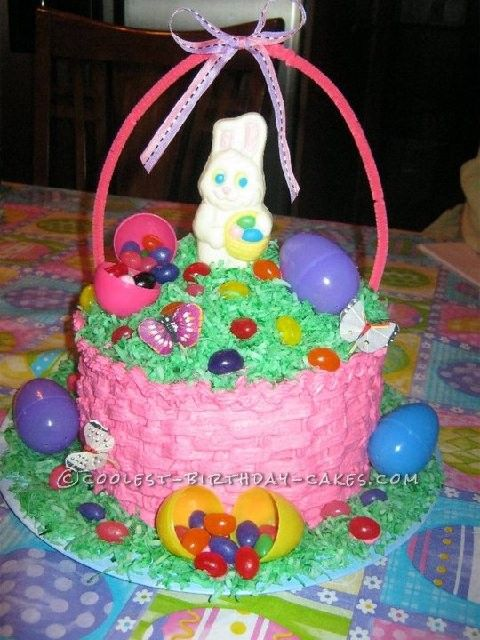 My first coolest easter basket cake negle Images