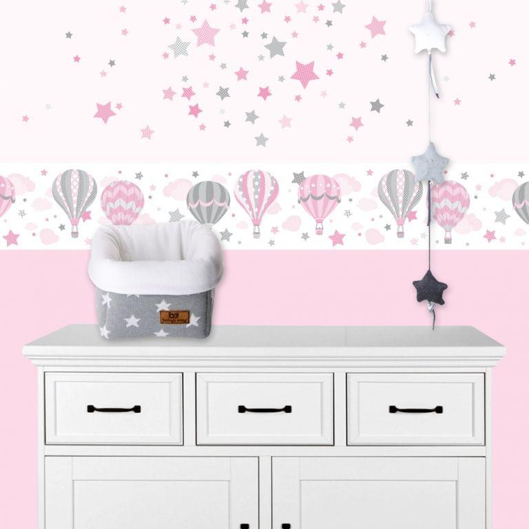Kinderzimmer Wandsticker Sterne rosa\/grau 68-teilig Kinderzimmer - babyzimmer sterne photo