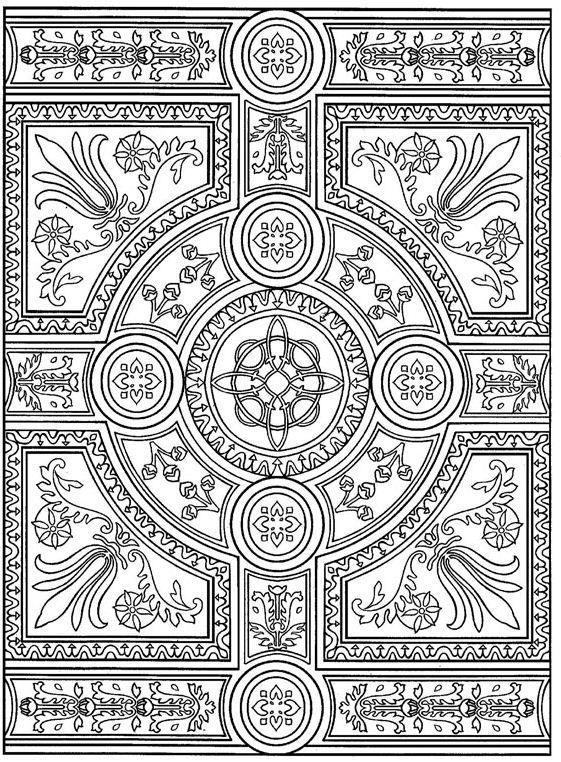 Kleurplaten Voor Volwassenen Tegels.Advanced Coloring Pages For Adults Coloring Page Tiles Tiles