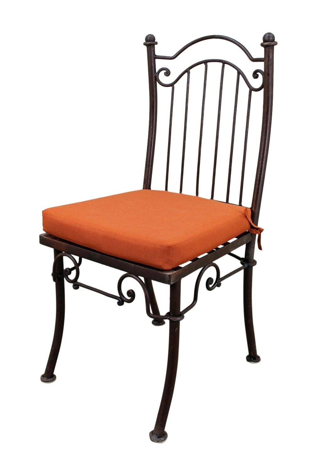 Iron dining chair with cushion cushions