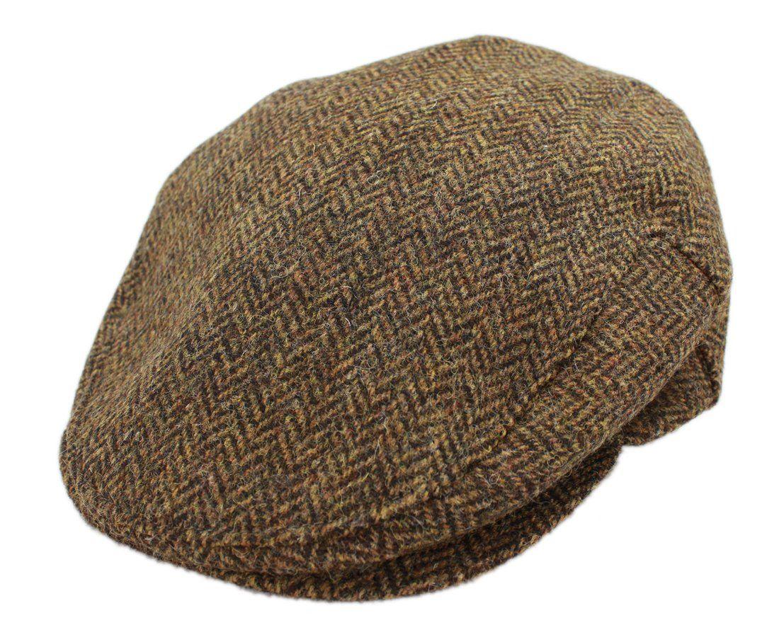 Robot Check Irish Hat Flat Cap Herringbone Quilt