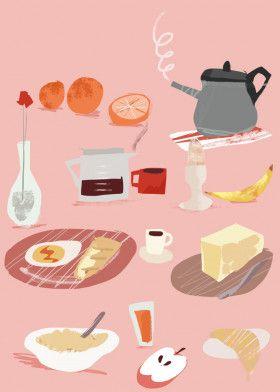 "Breakfast Time by Joanna Jurczak   metal posters - Displate #homedecor explore Pinterest""> #homedecor…   Displate thumbnail"