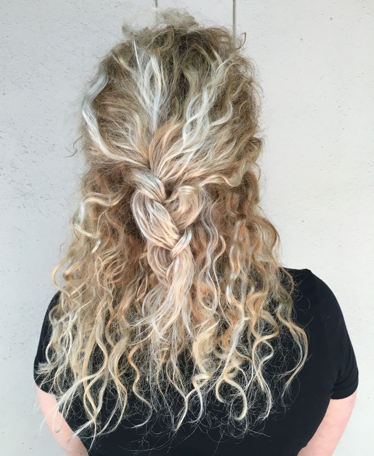 blonde hair balayage braids