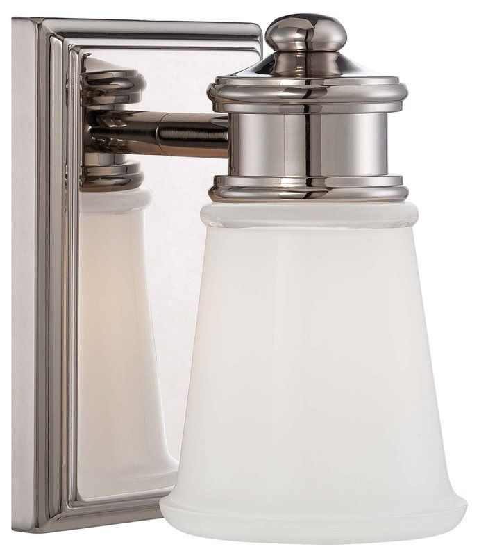 "Bathroom Sconces Height view the minka lavery 4531-613 1 light 7.5"" height bathroom sconce"