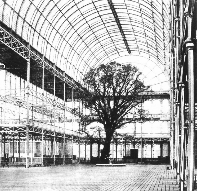The Crystal Palace (built around the existing trees at