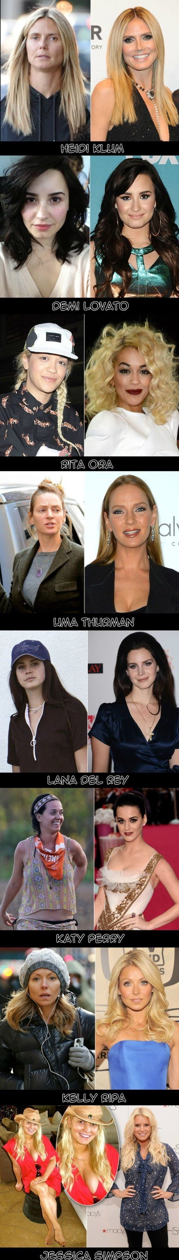 Some Celebrities Without Makeup Www Funny Pictures Blog