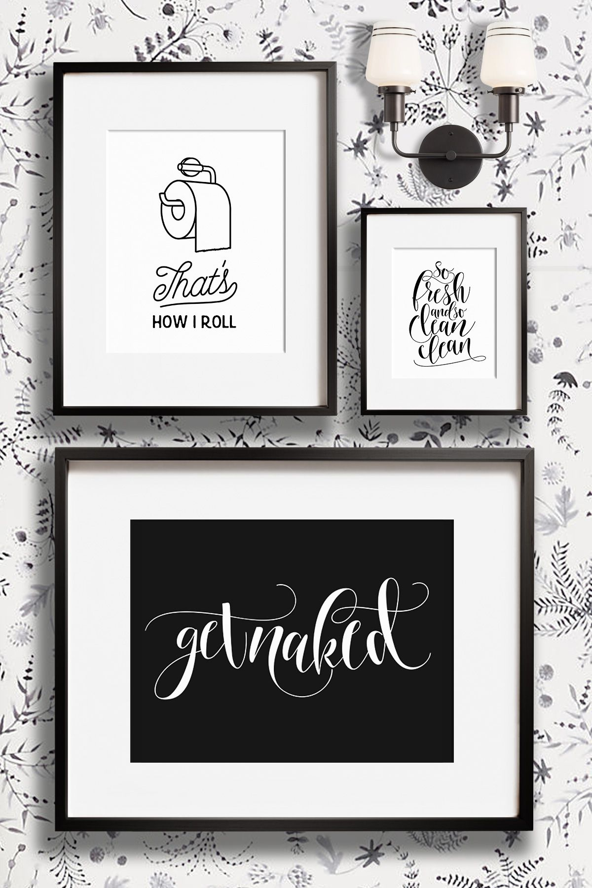 Gallery One Funny bathroom wall decor art prints Printable art and prints from The Crown Prints