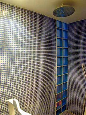 Paves de verre, design, salle de bain, photo - Décarts Lyon
