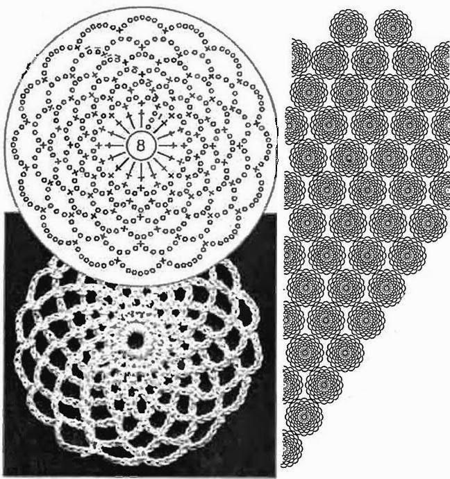 Tunica de Pico con Rosetones Patron - Patrones Crochet | Croché ...