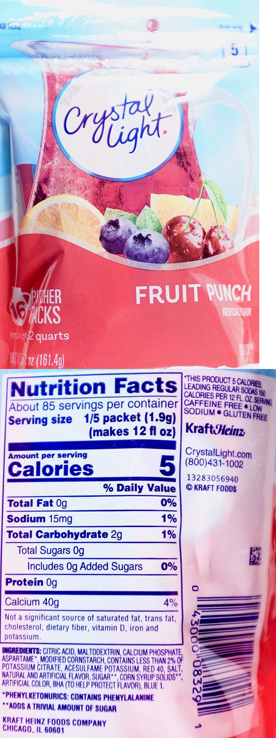 Drink Mixes 179192 Crystal Light Fruit Punch Drink Mix Pitcher Pack 16 Packets Makes 32 Quarts Buy It Now Only 1 Punch Drinks Fruit Punch Mixed Drinks