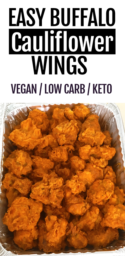 Keto Crispy Baked Buffalo Cauliflower Wings