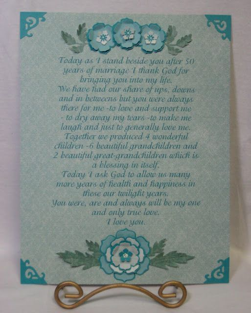 50th Anniversary Vow Renewal My Cards And Crafts Pinterest