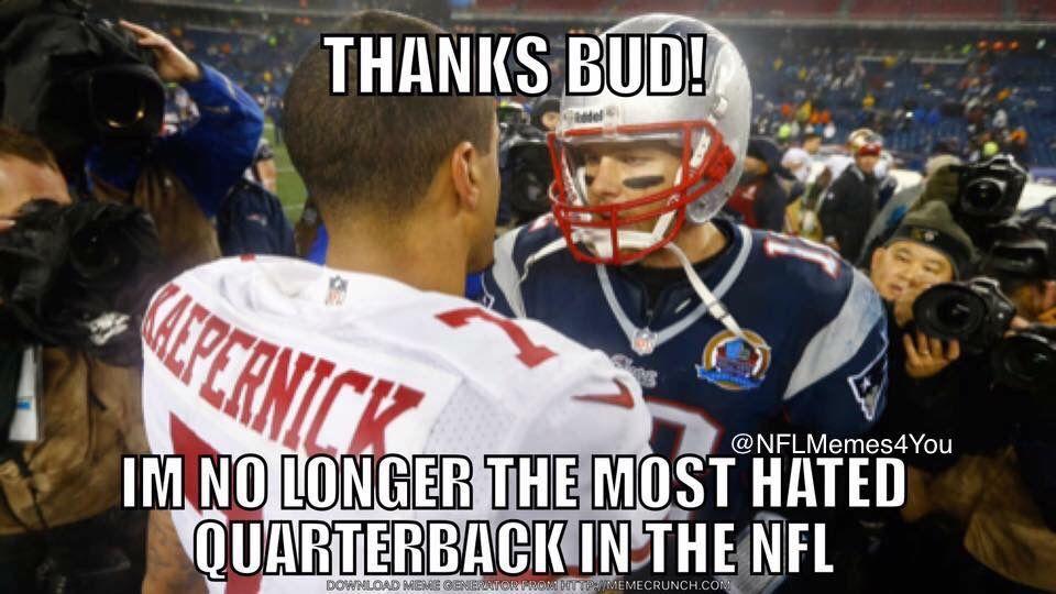 Kaepernick and Brady