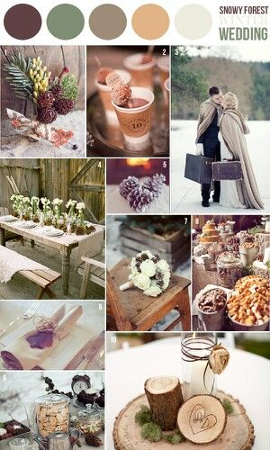 Winter wedding colors Rich colors ... chocolate brown....