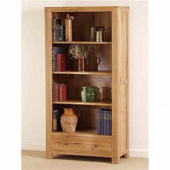 Custom Solid Oak Wood Bookcase