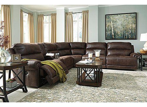 Astonishing Dorean 6 Pc Microfiber Power Reclining Sectional Sofa W Ibusinesslaw Wood Chair Design Ideas Ibusinesslaworg