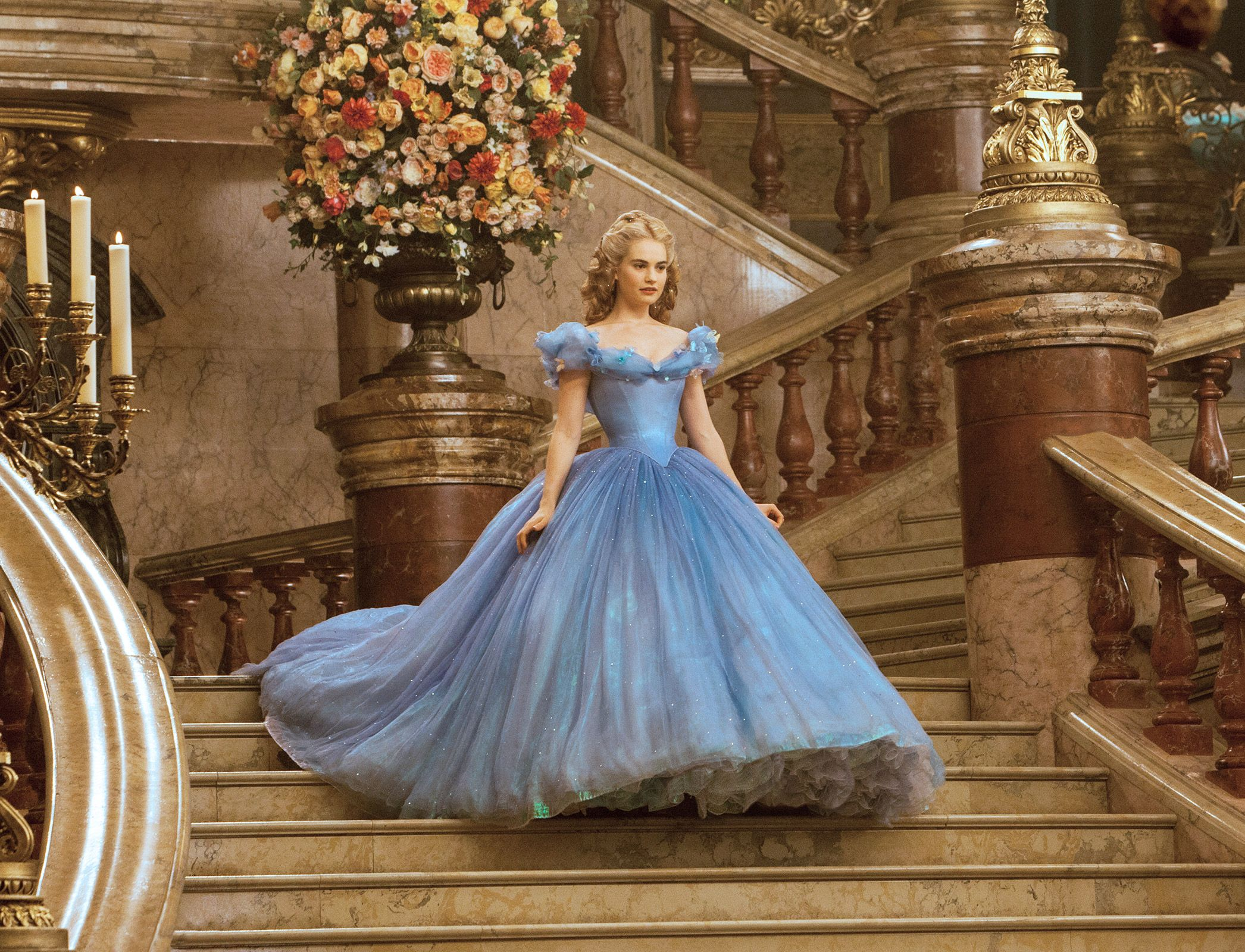 Cinderella Director Defends Lily James Tiny Waist In Promos Iconic Dresses Cinderella Dresses Ball Gown Wedding Dress