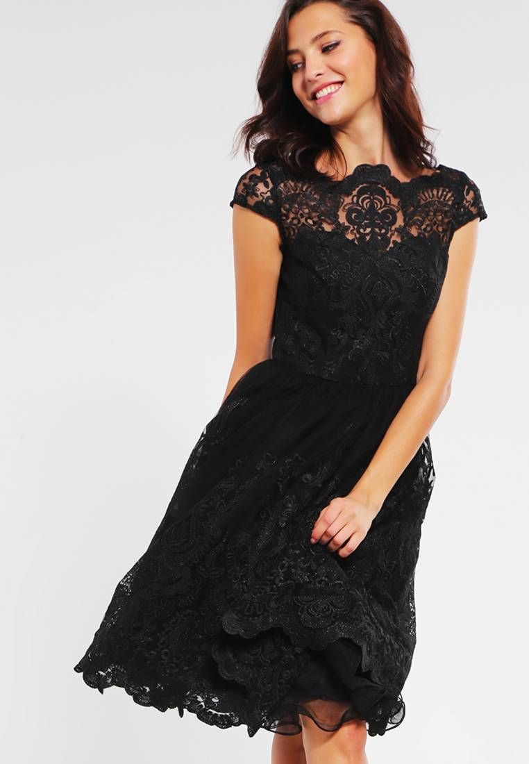 MATILDA - Cocktail dress / Party dress - black | Fabric material ...