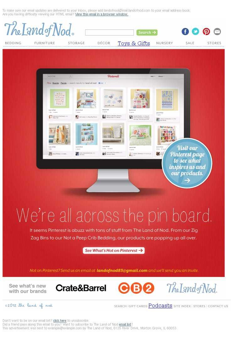 Email marketing & Pinterest: some examples of integration   Email ...
