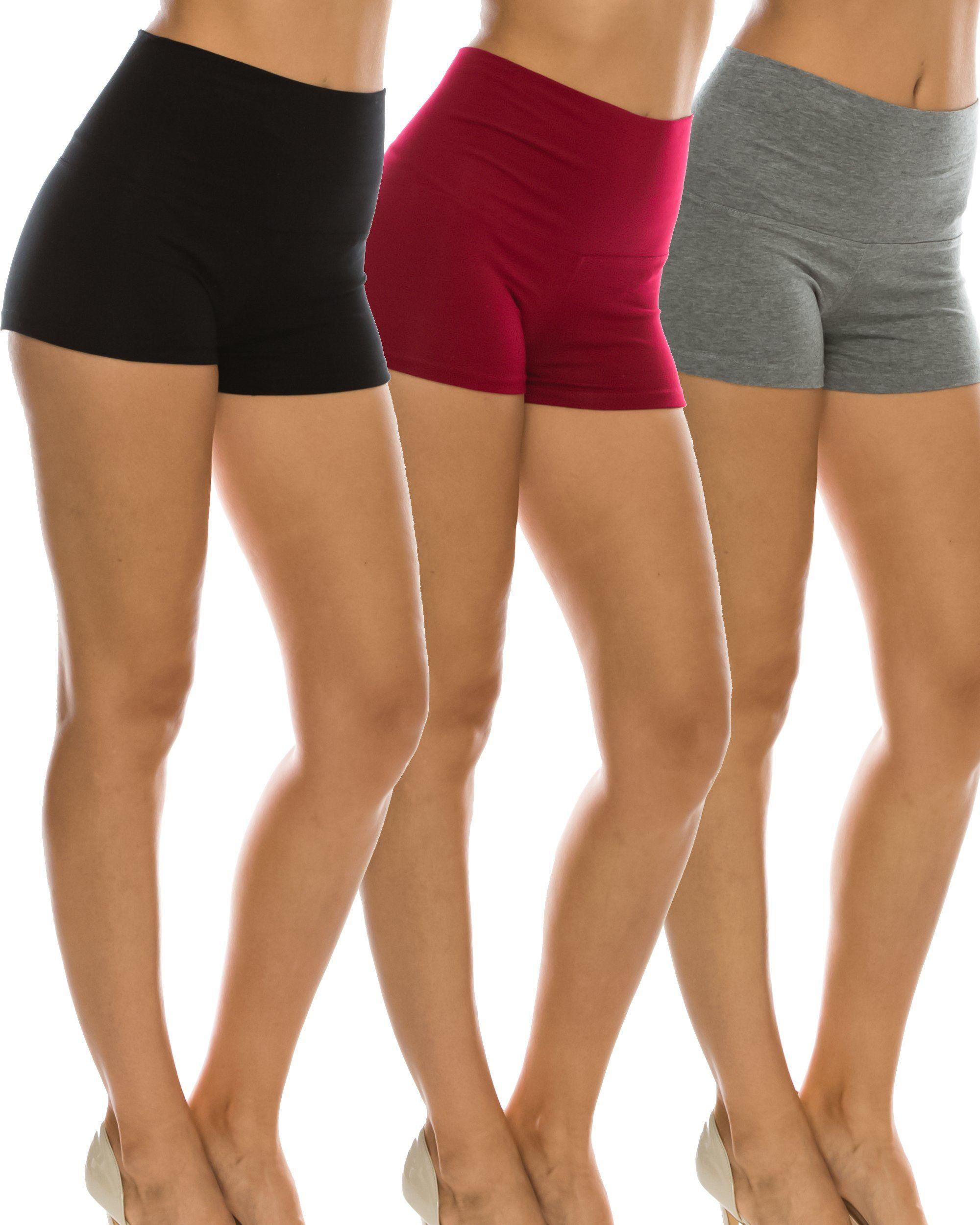 d32967a0db857  900  Nolabel 3pack Women s Activewear Fold Over Waistband Yoga Gym Workout  Hot Short Pants