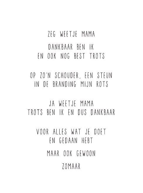 Bekende Citaten Liefde : Jip kaart voor moederdag gedichtje gewoonjip