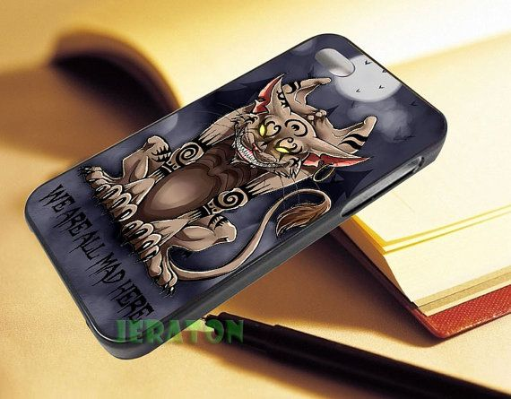 Cheshire Cat We Are All Mad Here  For iPhone 4/4s55s5c by JERATON, $14.50