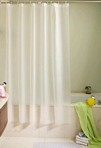 Uforme Contemporary Extra Long Shower Curtain Waterproof And