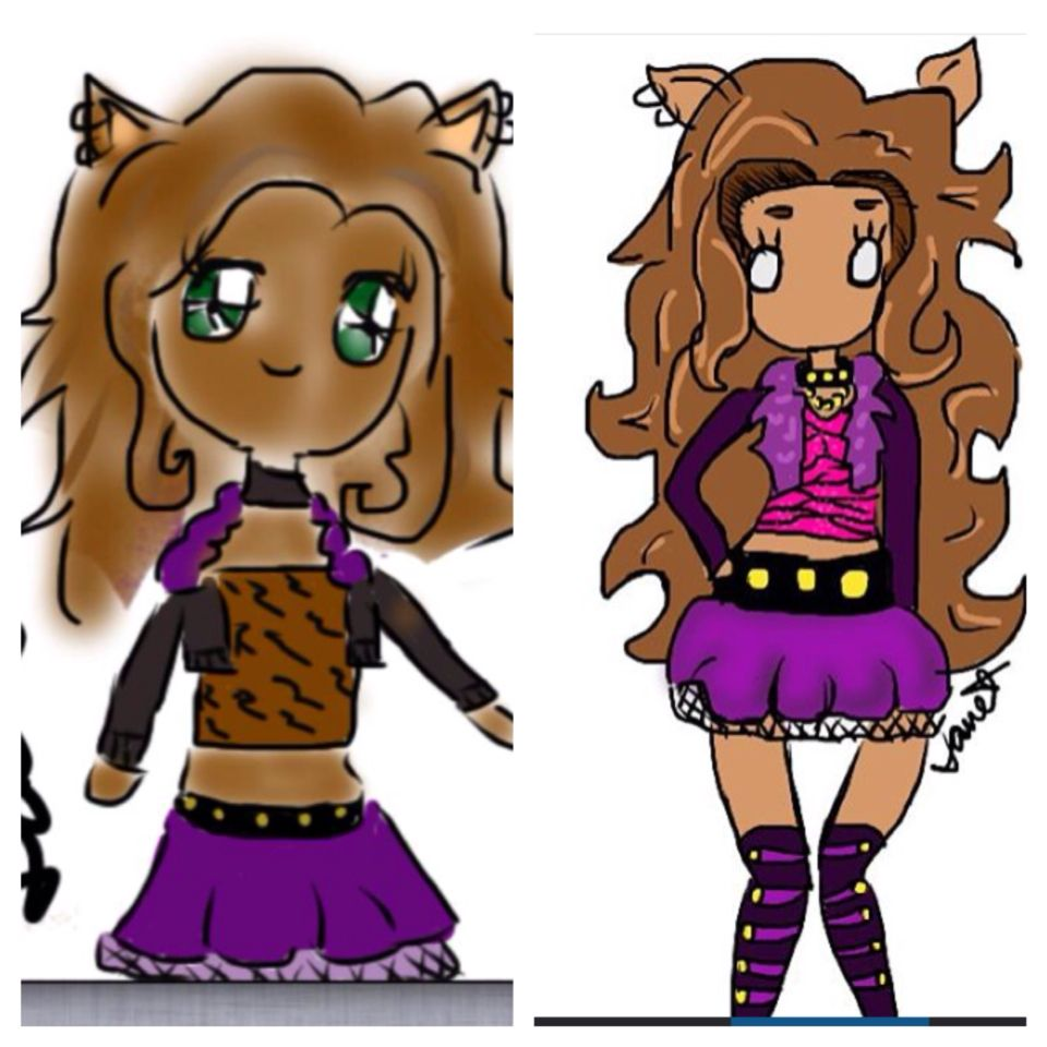 Before and after  (1yeah ago / today )  Monster high