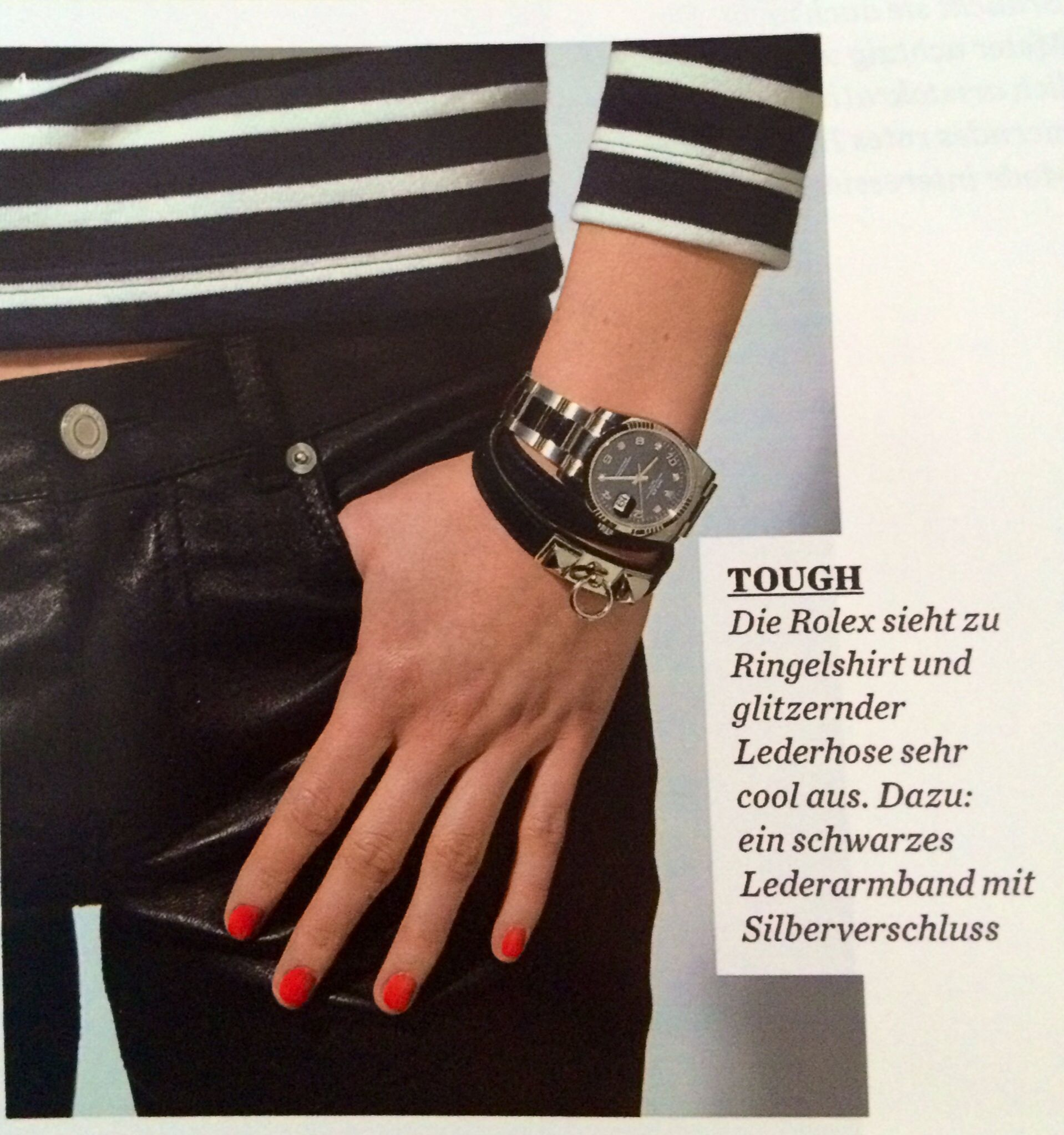 Sporty Rolex ; Seen in Elle from may 2014