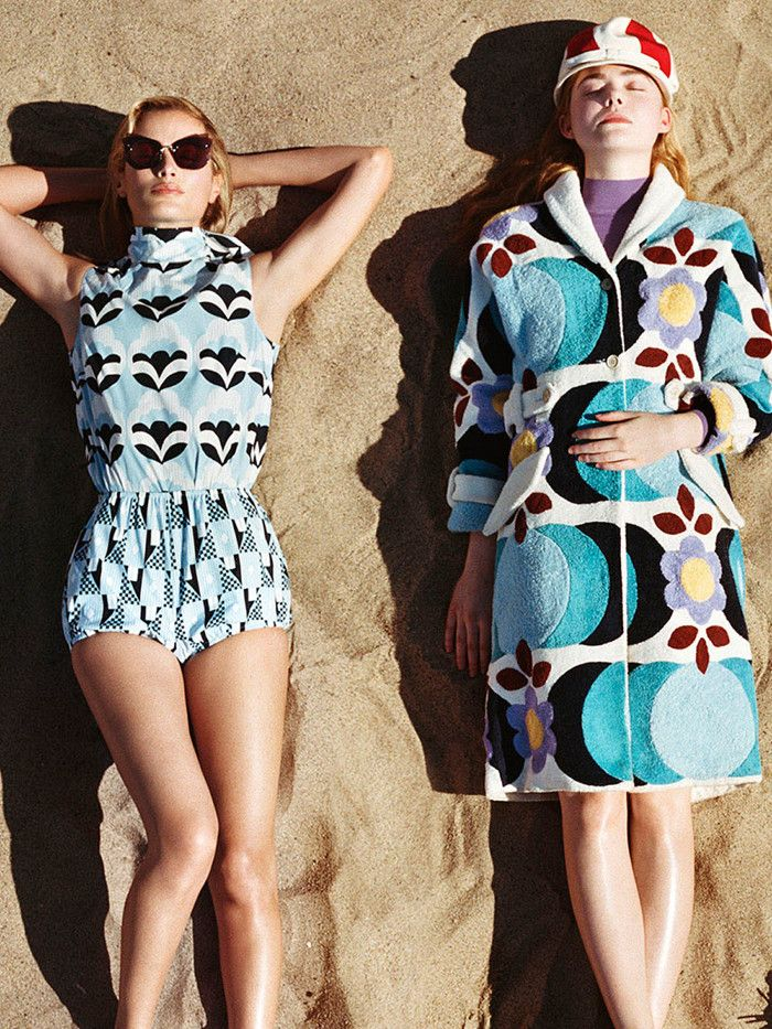 Miu Miu Put a Surprising Twist on the Swimsuit Cover-Up | Miu Miu SS17 Campaign