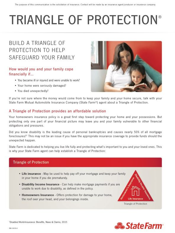 The Triangle Of Protection We Are Here To Help Life Go Right And This Is One Was We Can Do That Ask Us How State Farm Insurance State Farm Insurance Agent