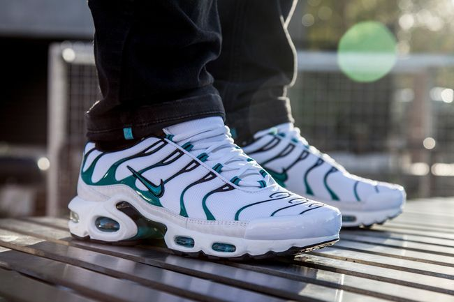 The Newest Nike Air Max Plus Tuned 1 Is Dressed In A Clean Colorway Having A White Mesh Base With Turbo Green Accents Nike Air Max Nike Air Max Plus Nike Air