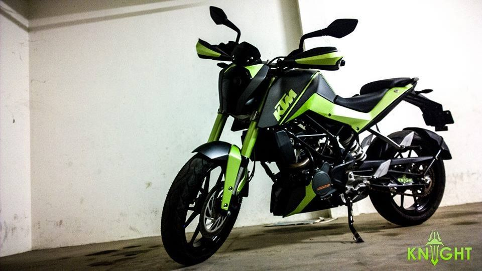Modified Duke 200 In Green Shade By Knight Auto Customizers Ktm