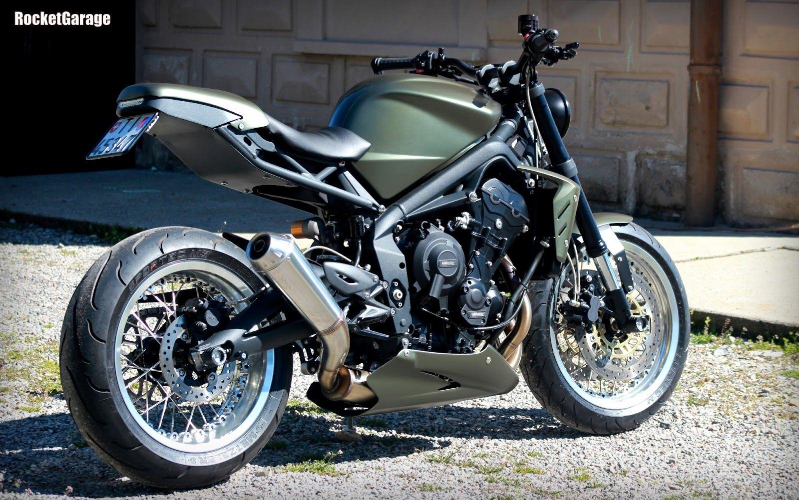 moto triumph hellas: triumph street triple 675 customramarro