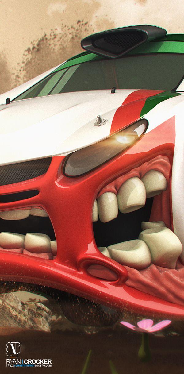 Arte digital - Mitsubishi Rally Beast by Ryan Crocker, via Behance