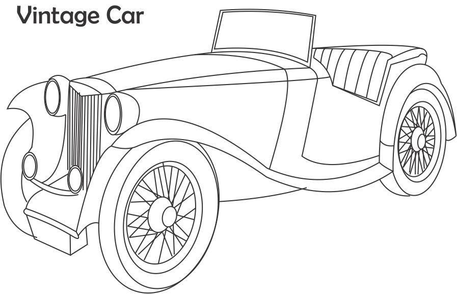 Vintage Car Coloring Printable Page For Kids 2 Cars Coloring