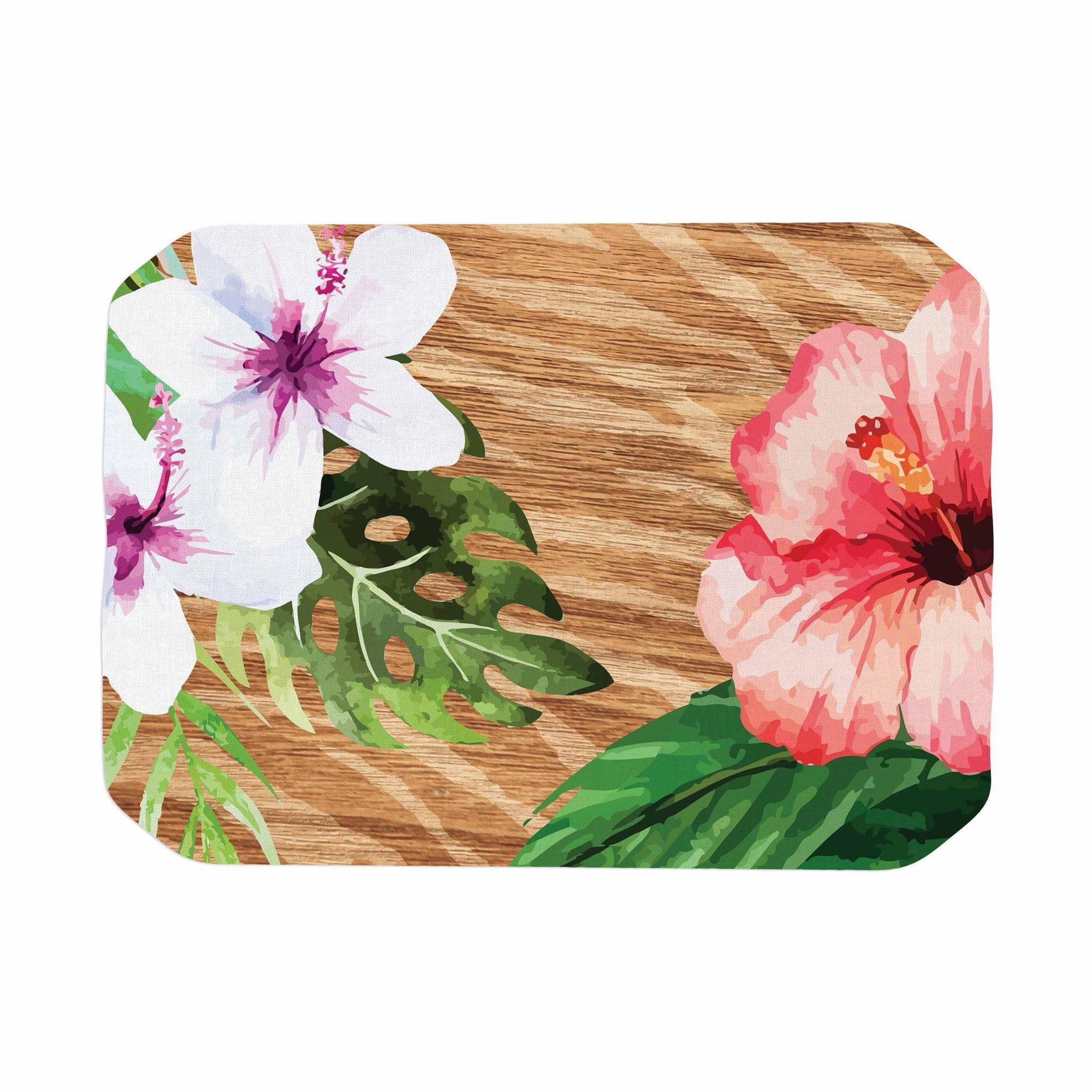 """NL designs """"Vintage Tropical Jungle """" Pink Floral Place Mat"""