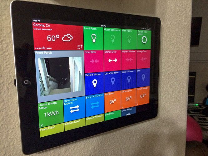 smarttiles wall mounted tablet example from varunpatel