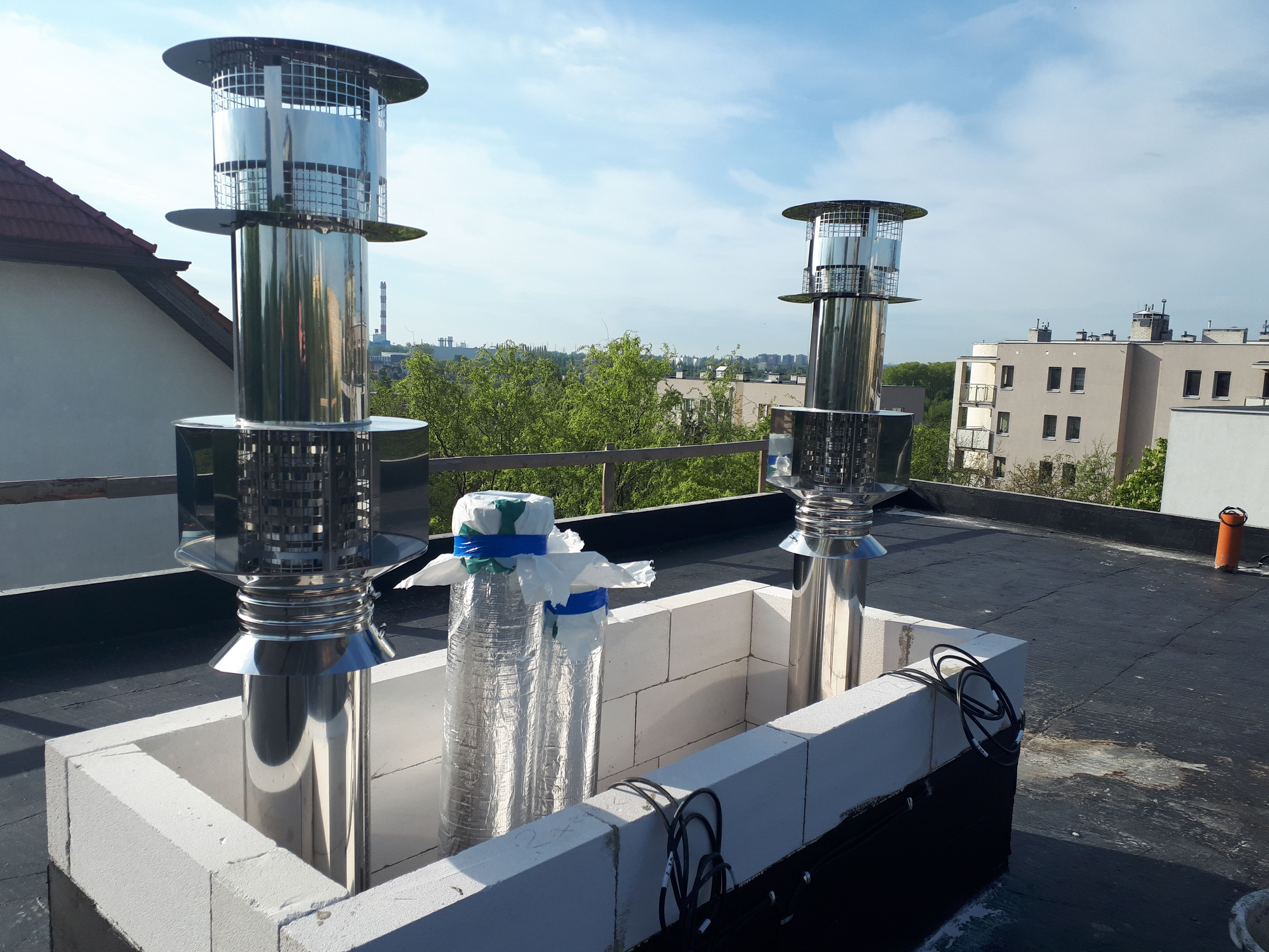Wohnkomplex Mit Clv System Schornstein Gaskamin Stahl