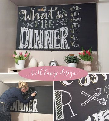 hand lettering rlange designs webseite eine sch ne kreide tafel in der k che gerne. Black Bedroom Furniture Sets. Home Design Ideas