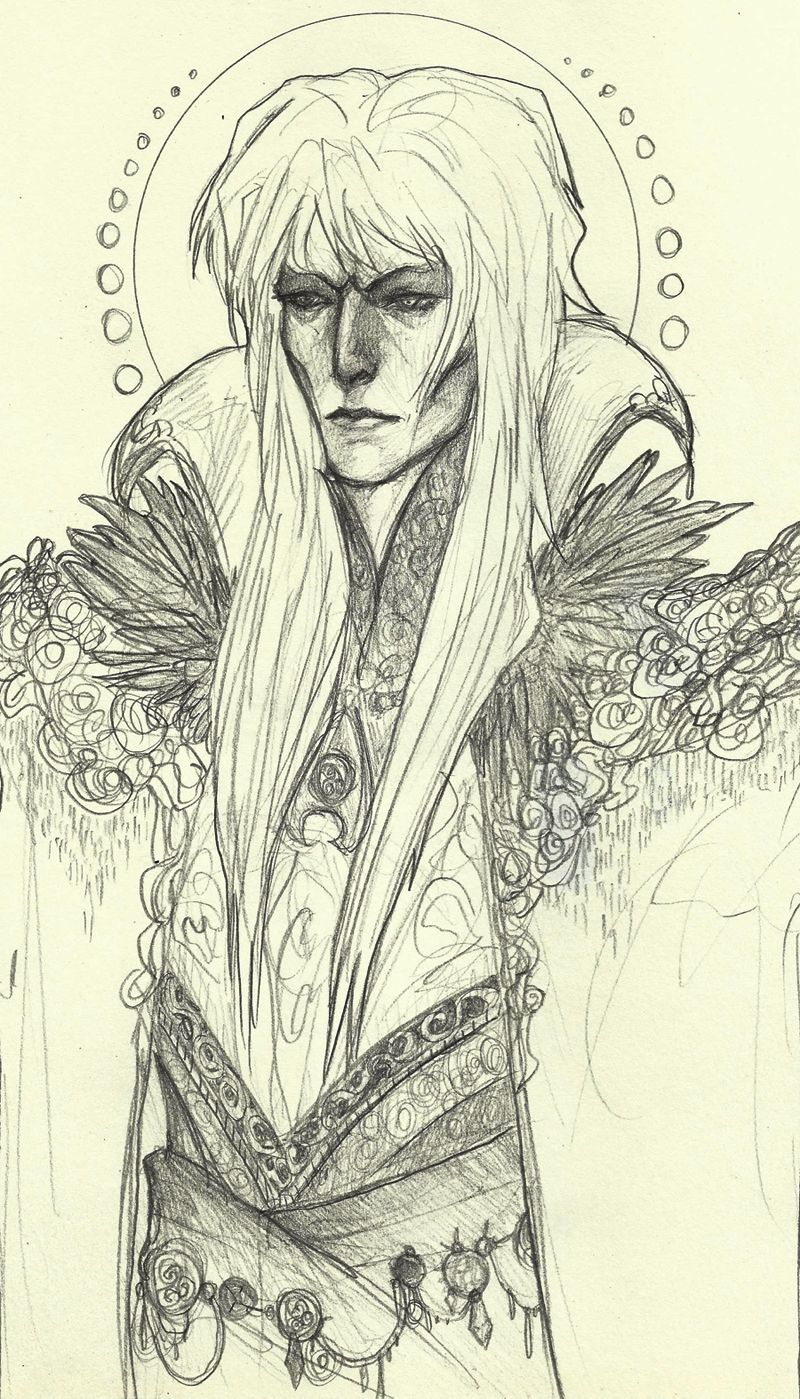 David Bowie version of Jareth wearing what my version of the Goblin King would wear! ♥
