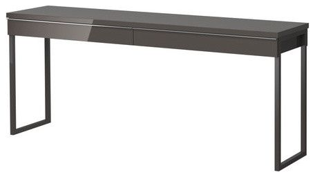 Credenza Desk Ikea : BestÅ burs desk high gloss gray modern desks ikea jj 家具类