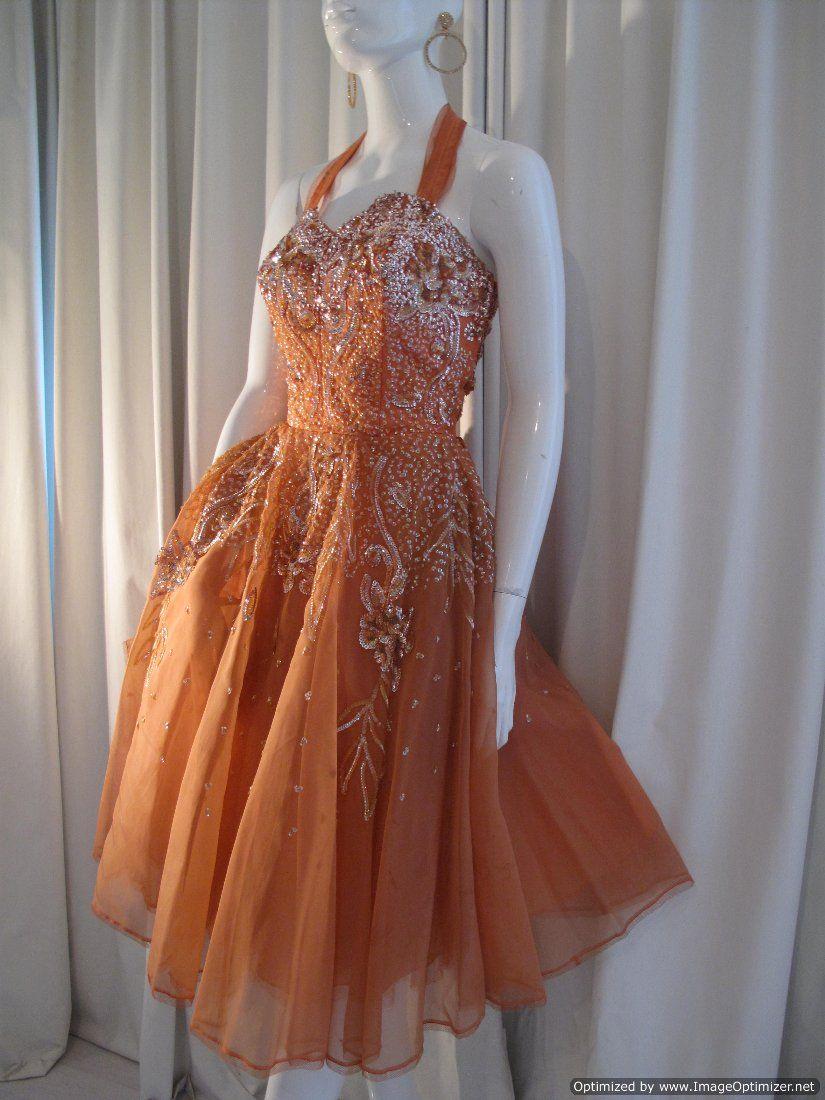 vintage hollywood gowns | Vintage Cocktail Dresses Uk - 1950 s Hollywood sparkle starlet vintage ...