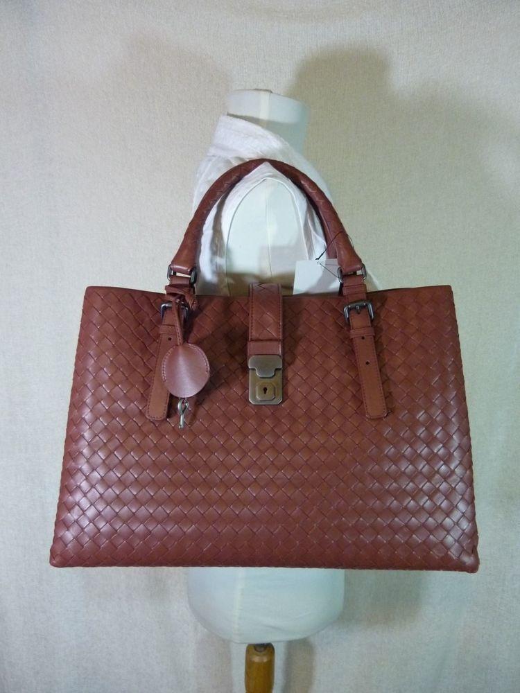 9d752b0daa33 2016 NWT Bottega Veneta Medium Roma Bag In Russet Intrecciato Calf Leather   3750  BottegaVeneta  SatchelTote